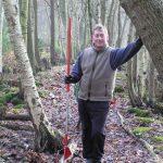 John clearing leaves