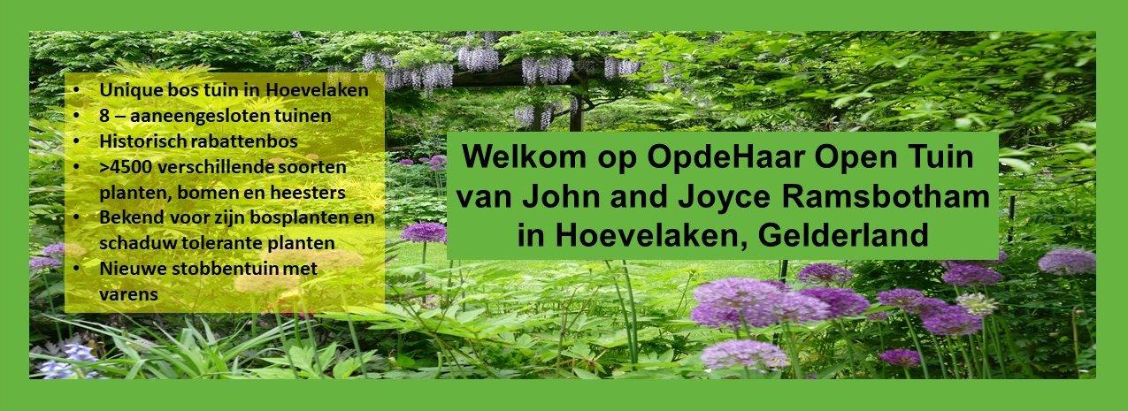 Welkom op OpdeHaar Open tuin in Hoevelaken, Gelderland